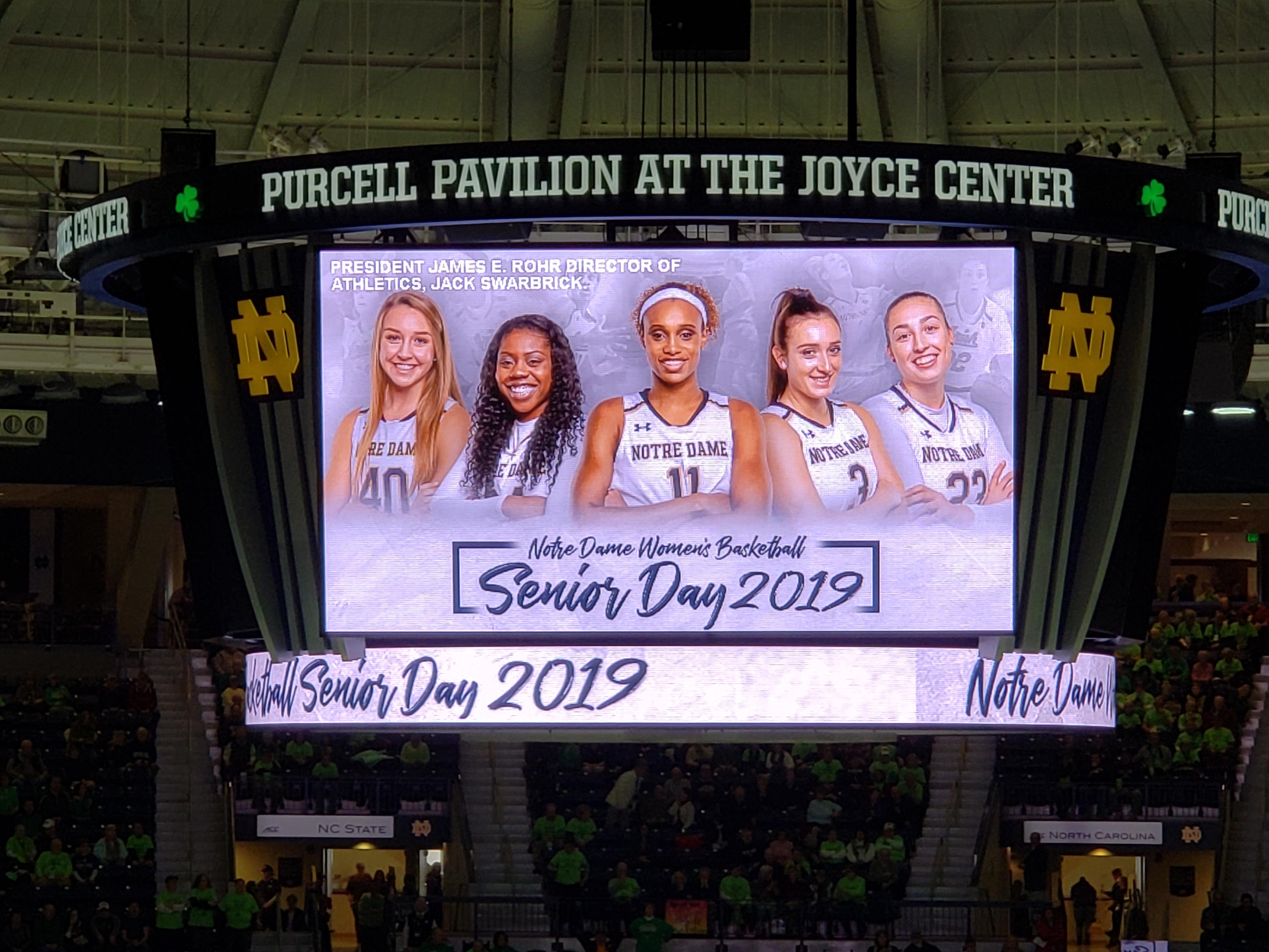 ND Women's Basketball: Senior Day!